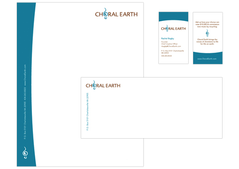 Choral Earth Letter Business Card