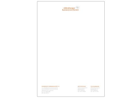 Oldenburger Kammerorchester Letter