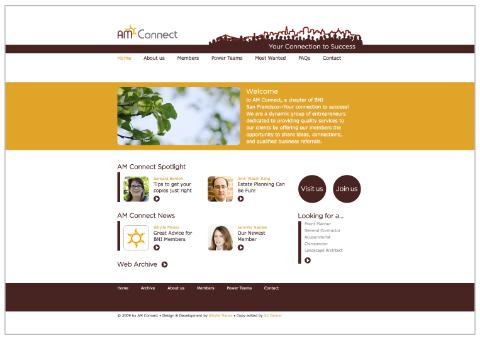 AM Connect Website Design