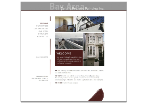 Bay Area Ceiling Pro and Painting Inc. Website