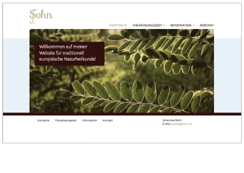 Johannes Sohn Website Design