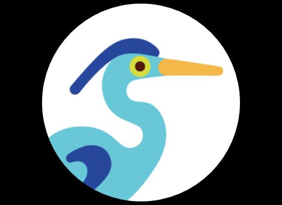 Blue Heron Brood Logo Design